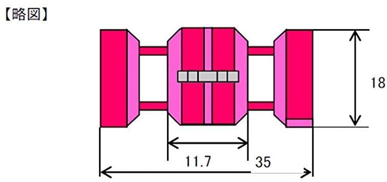 配線コネクター/0.50~0.85sq/赤/お買い得限定品 60個 0.50~0.85sq 【Amazon.co.jp限定】 エ_画像4