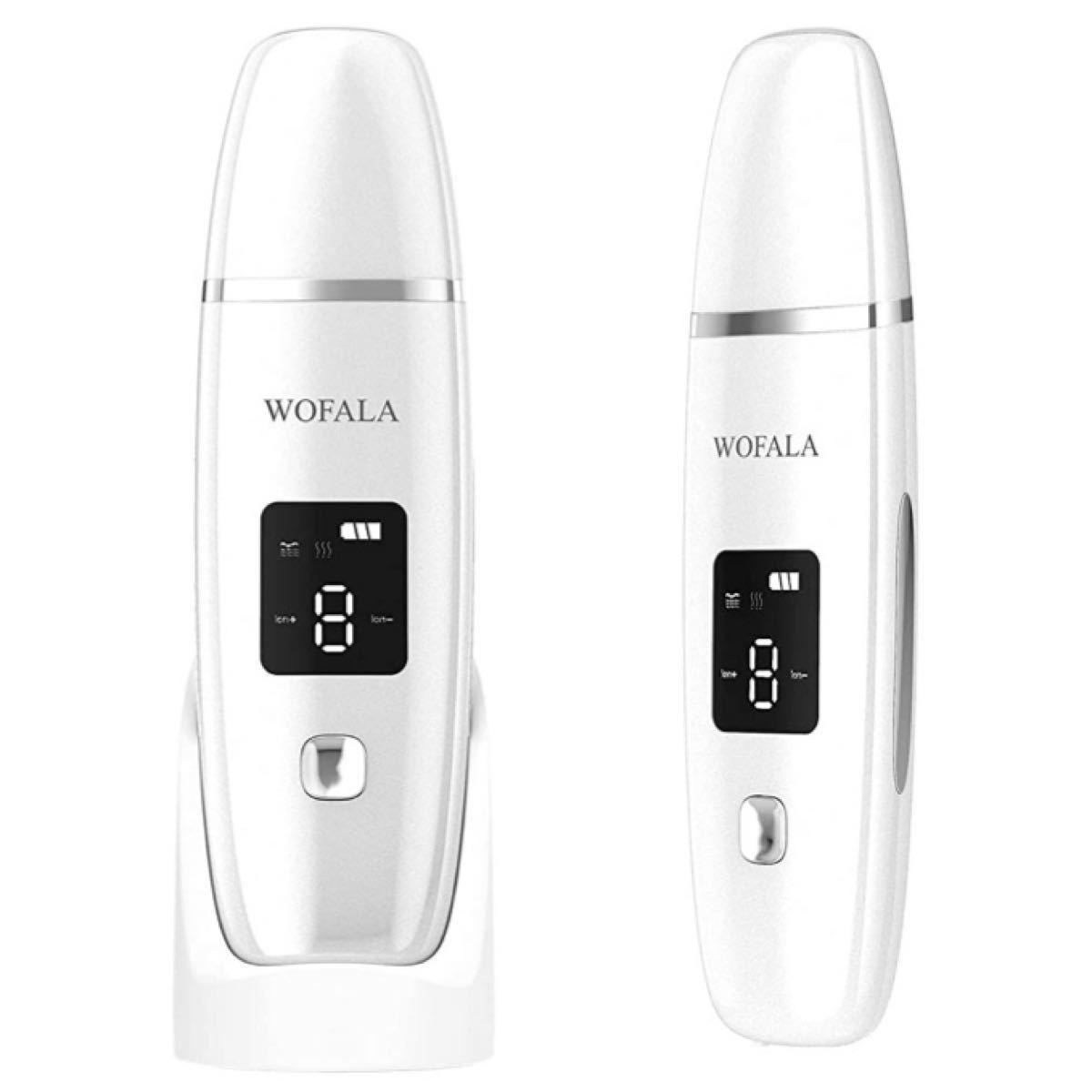 ウォーターピーリング 超音波ピーリング美顔器 超音波振動 EMS微電流 イオン導入導出 毛穴クリーナー USB充電+充電スタンド