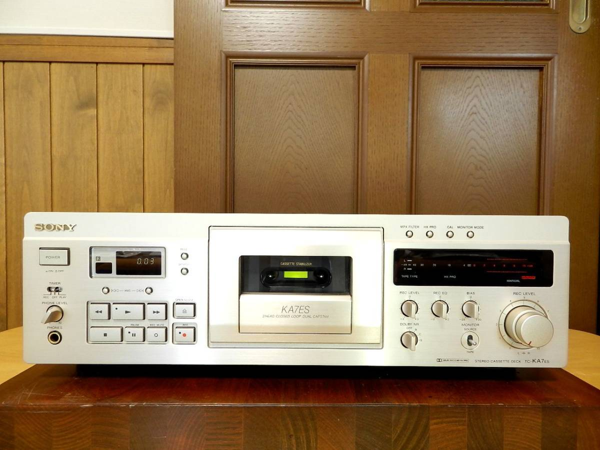 SONY TC-KA7ES//SONY 最高級カセットデッキ//ほぼ未使用です。(全ての項目で動作確認済み)//元箱 取説原本.リモコン付