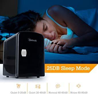 03ブラック AstroAI 冷蔵庫 小型 ミニ冷蔵庫 小型冷蔵庫 冷温庫 保温 冷温庫 4L 小型でポータブル 化粧品 家庭_画像9