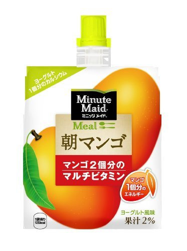 コカ・コーラ ミニッツメイド 朝マンゴ ゼリー 180mlパウチ×6個_画像1