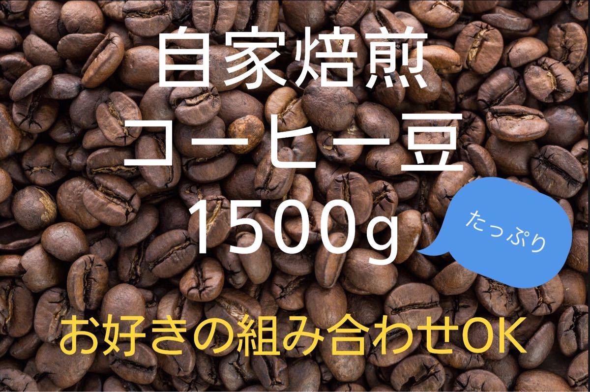 《注文後焙煎》自家焙煎コーヒー豆1500g (お好きな組み合わせOK!)