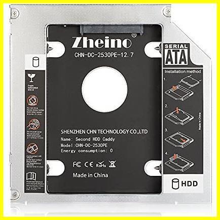 Zheino 2nd 12.7mmノートPCドライブマウンタ セカンド 光学ドライブベイ用 SATA/HDDマウンタよりCD/DVD CD ROM HDD CADDY に置き換えます_画像2