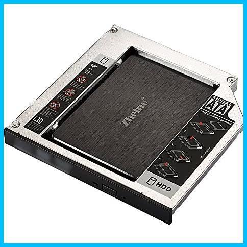 Zheino 2nd 12.7mmノートPCドライブマウンタ セカンド 光学ドライブベイ用 SATA/HDDマウンタよりCD/DVD CD ROM HDD CADDY に置き換えます_画像3