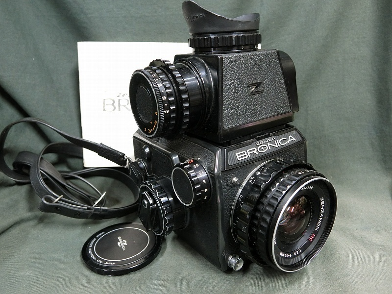 A3279 ゼンザブロニカEC レンズ:ZENZANON50mm 6×6判フィルムカメラ