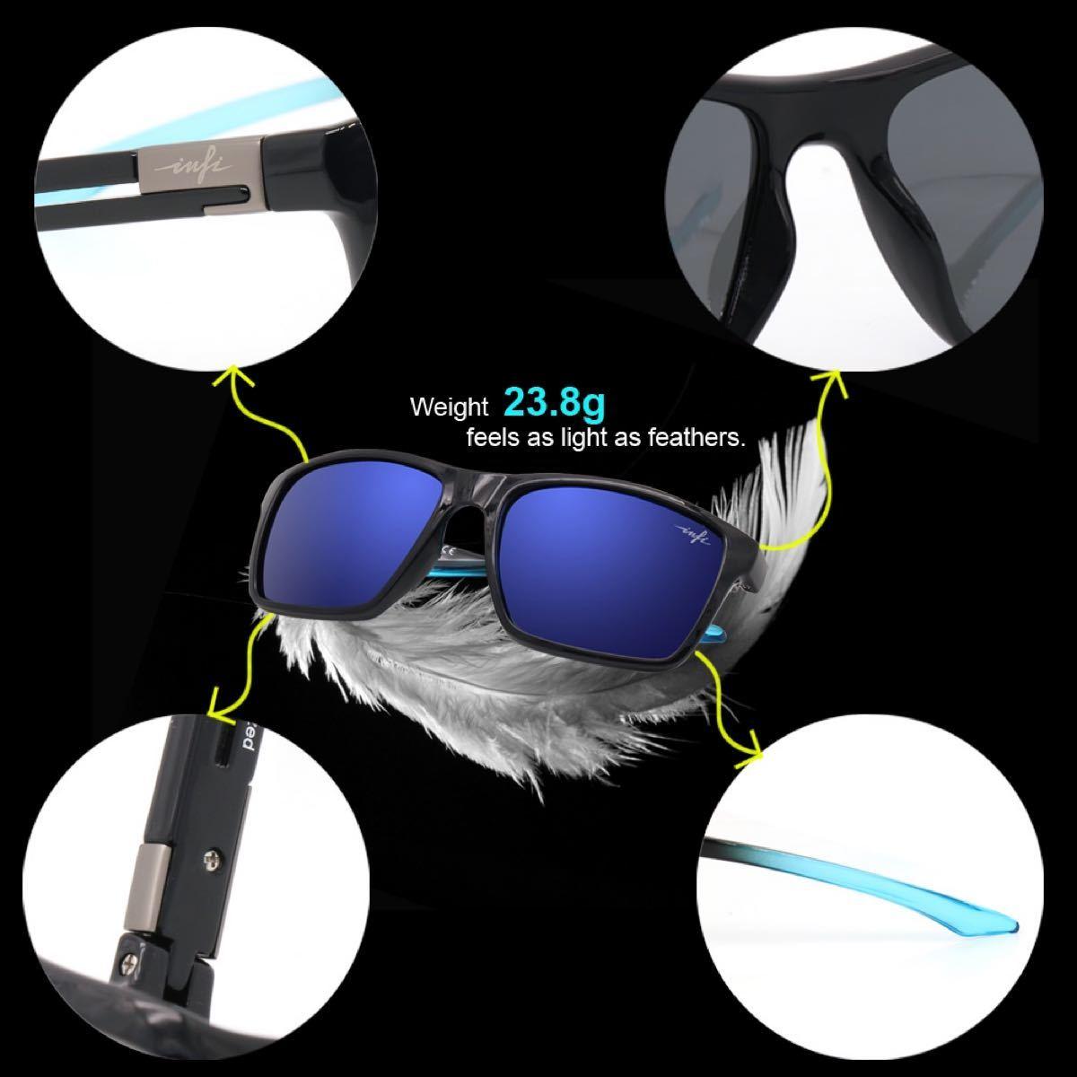 サングラス 男女兼用 超軽量 テニス ゴルフ 釣り スポーツ 偏光 UVカット