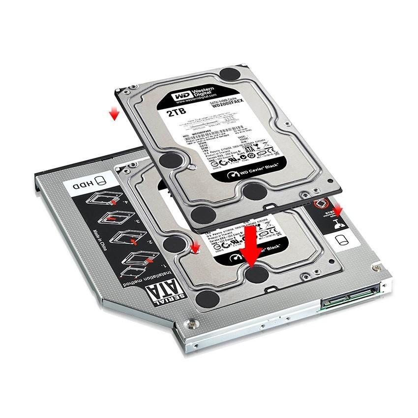 コム 9.5mm ノートPCドライブマウンタ セカンド 光学ドライブベイ用 SATA/HDDマウンタ CD/DVD CD ROM NPC_MOUNTA-9_画像4