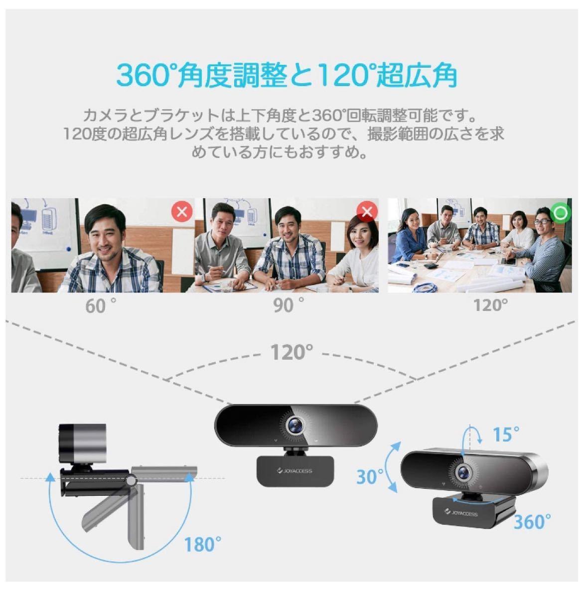 Webカメラ フルHD1080P 30FPS 高画質 ウェブカメラ広角 内蔵マイク