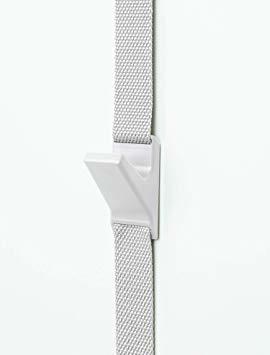 ホワイト W4×D4×~H240 ライクイット(like-it)壁掛け収納ドアフック 幅4x奥4x高~240cmホワイト日本製N_画像1