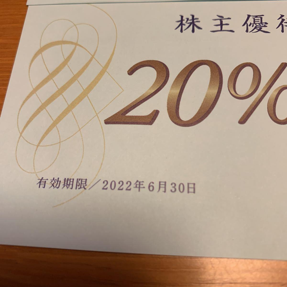 青山商事 株主優待 割引券20%off洋服の青山 3枚_画像2