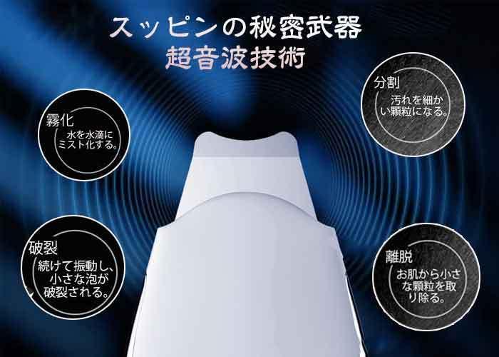 ウォーターピーリング 超音波 美顔器 超音波ピーリング スマートピール 超音波振動 EMSマッサージ イオン導入 イオン導出 USB充電式 毛穴_画像7