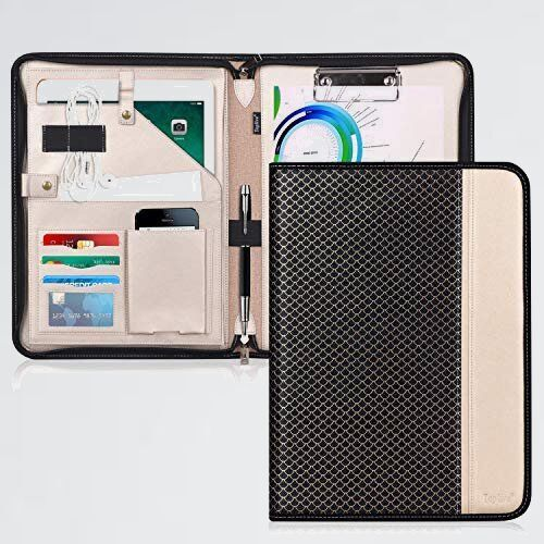 好評 新品 A4 クリップボ-ド D-PQ バインダ- Toplive クリップファイル 書類フォルダ- 高級PUレザ- 収納ポケット搭載_画像1