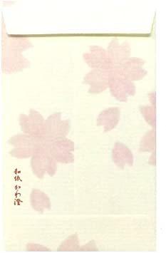 25枚 【Amazon.co.jp 限定】和紙かわ澄 和紙ぽち袋 ちぎり絵 桜吹雪 25枚入_画像2