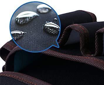 ブラック2 weijiekk ツールバッグ ウエストバッグ 腰袋 作業 収納 工具入れ 電工袋 電工道具袋 工具袋 工具差し_画像3