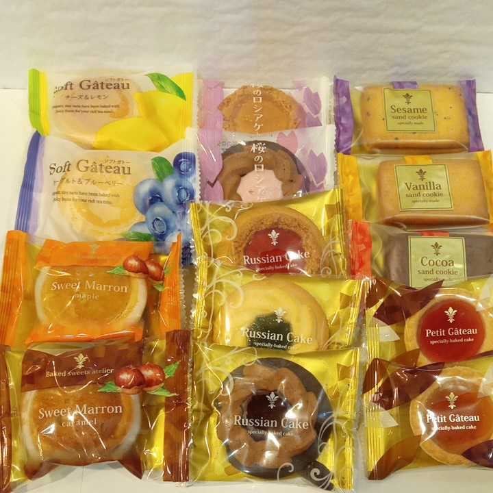 1円スタート アウトレット ロシアケーキ タルトケーキ お菓子詰め合わせセット _画像1