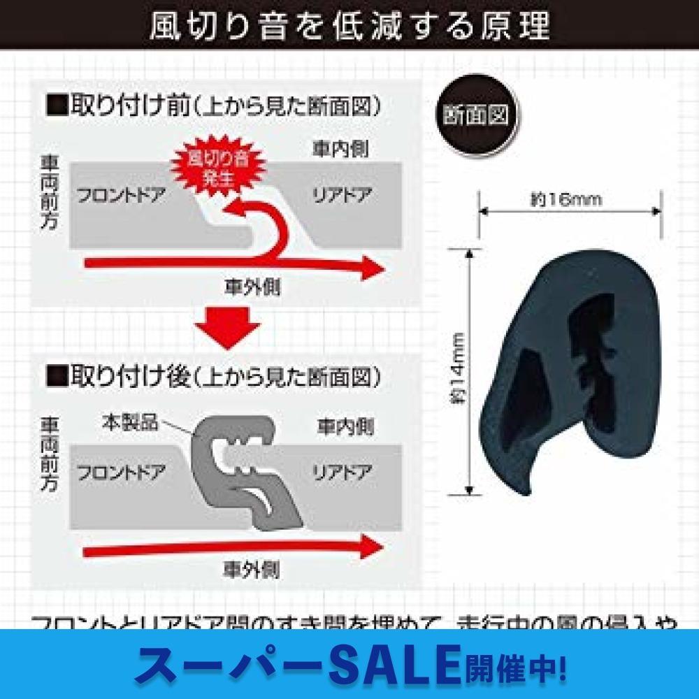 お買い得限定品 【Amazon.co.jp 限定】エーモン 静音計画 風切り音防止モール(ドア用) ドア2枚分(約2.1m) (_画像3