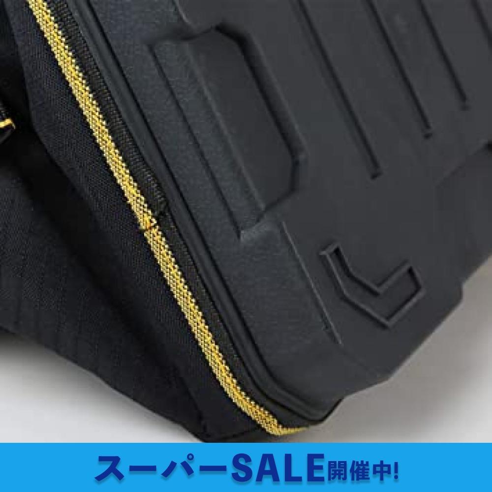 34.5x20.5x22CM YZL ツールバッグ 工具袋 ショルダー ベルト付 肩掛け 手提げ 大口収納 差し入れ 底部特化 _画像3