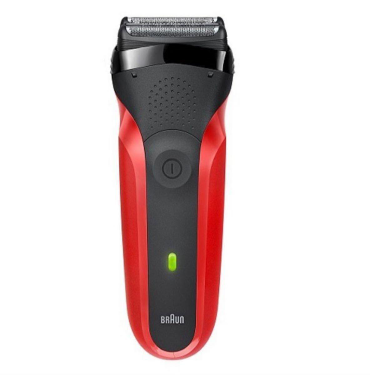 新品未開封 シェーバー ブラウン メンズ 電気シェーバー 髭剃り シリーズ3 3枚刃 300S-R レッド