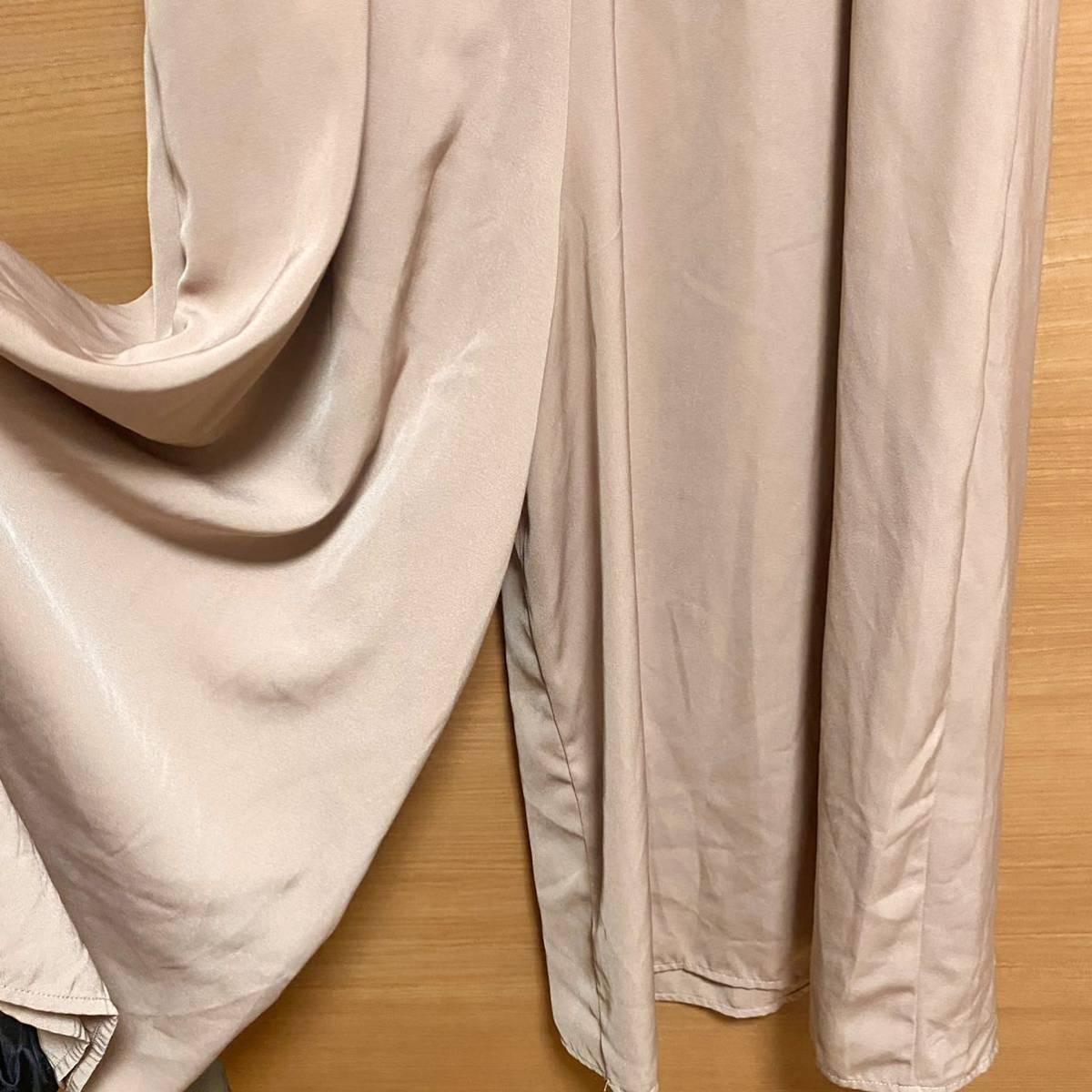 オールインワン/サロペット/オーバーオール/ピンク/くすみピンク/大人可愛い/パンツ/ズボン/レディース/M/M/大人ピンク/可愛い/美品
