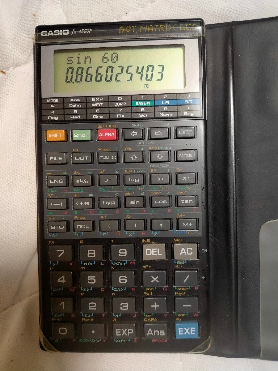 CASIO 関数電卓 fx-4500P