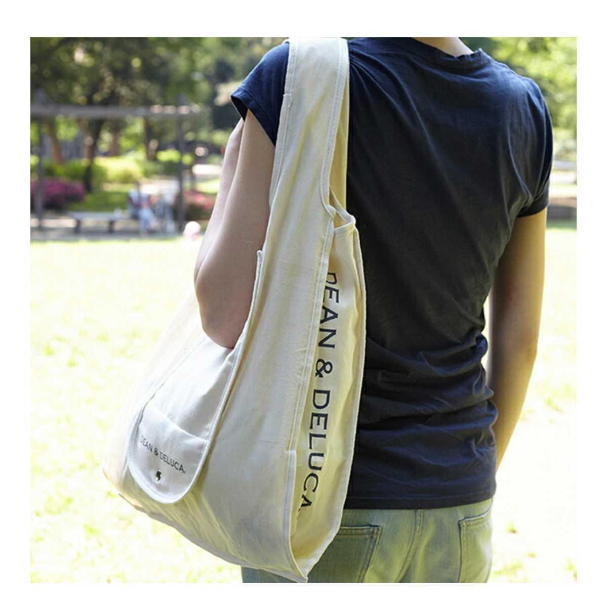 DEAN&DELUCA ショッピングバッグ ナチュラル ベージュ オフホワイト Natural エコバッグ トートバッグ ディーンアンドデルーカ