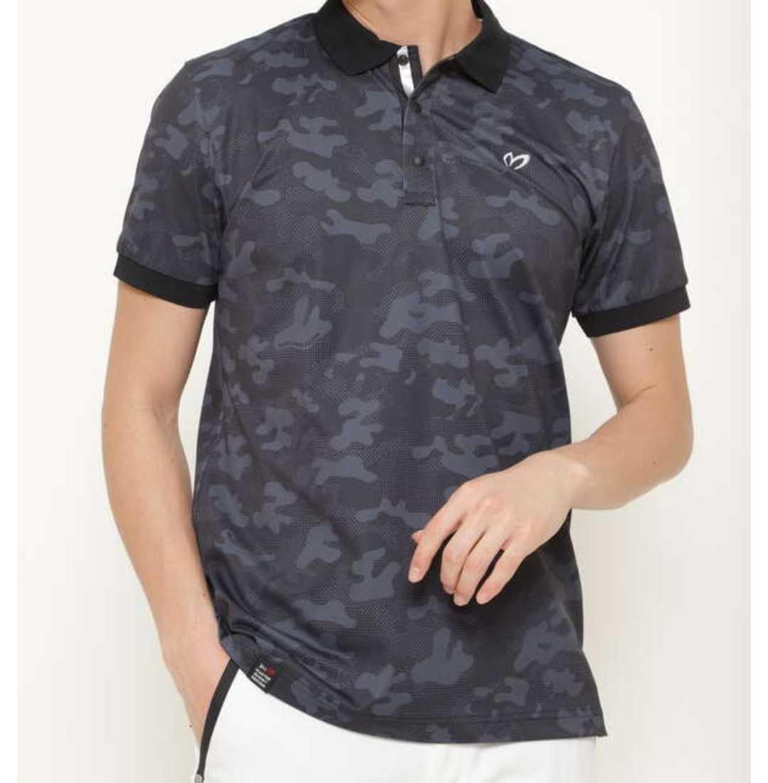 新品正規品 マスターバニー パーリーゲイツ サイズ3 プライムフレックス 高機能 ポロシャツ カモフラ 21モデル シワになりにくい_画像1
