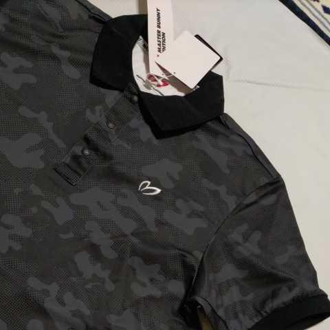 新品正規品 マスターバニー パーリーゲイツ サイズ3 プライムフレックス 高機能 ポロシャツ カモフラ 21モデル シワになりにくい_画像9