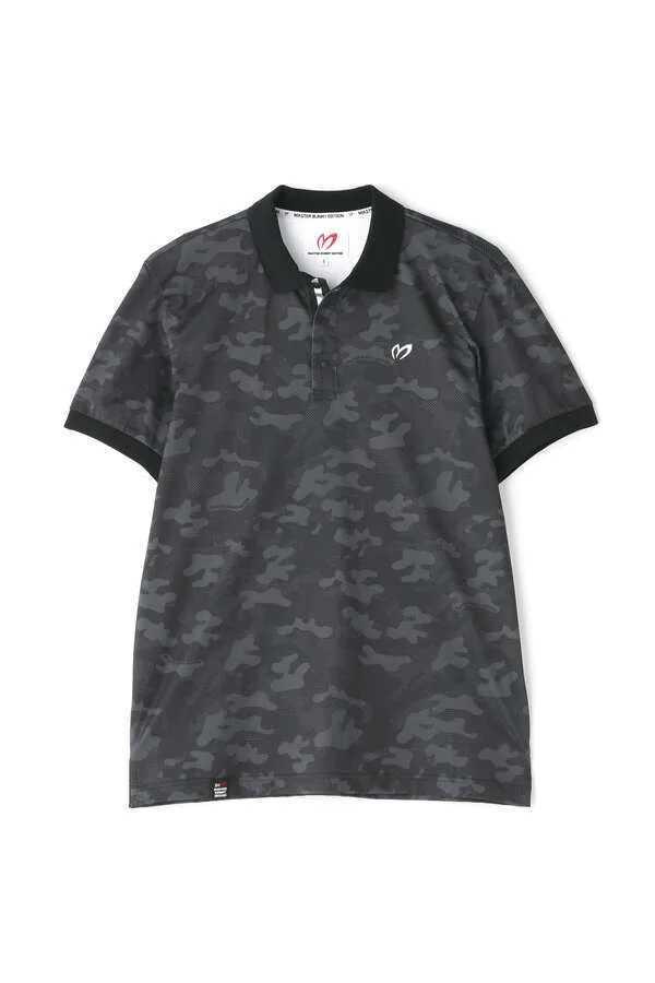 新品正規品 マスターバニー パーリーゲイツ サイズ3 プライムフレックス 高機能 ポロシャツ カモフラ 21モデル シワになりにくい_画像2