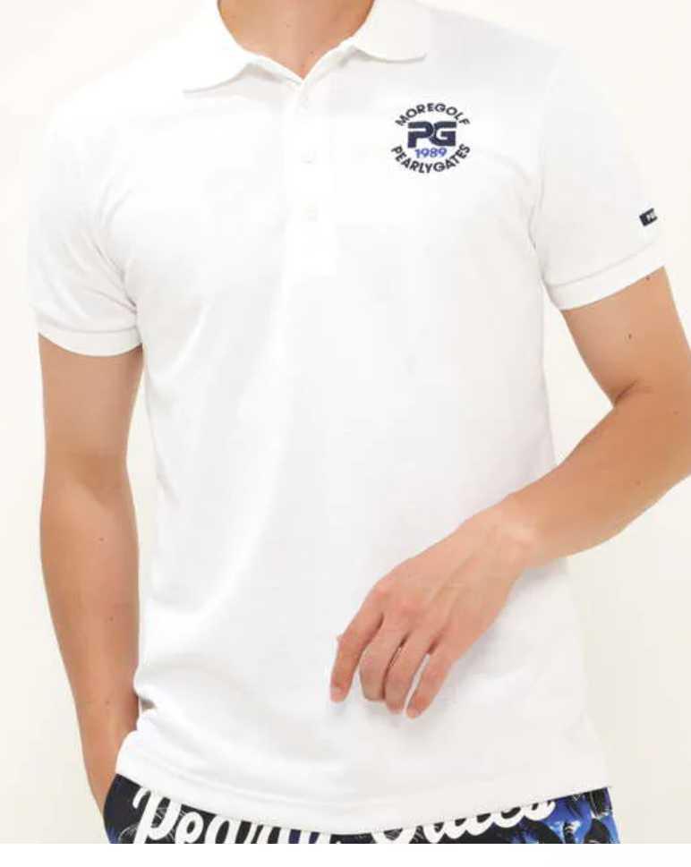 超美品正規品 試着のみ パーリーゲイツ サイズ6 21モデルの最新作 完売モデル ホワイト 高機能 ポロシャツ 送料無料_画像2