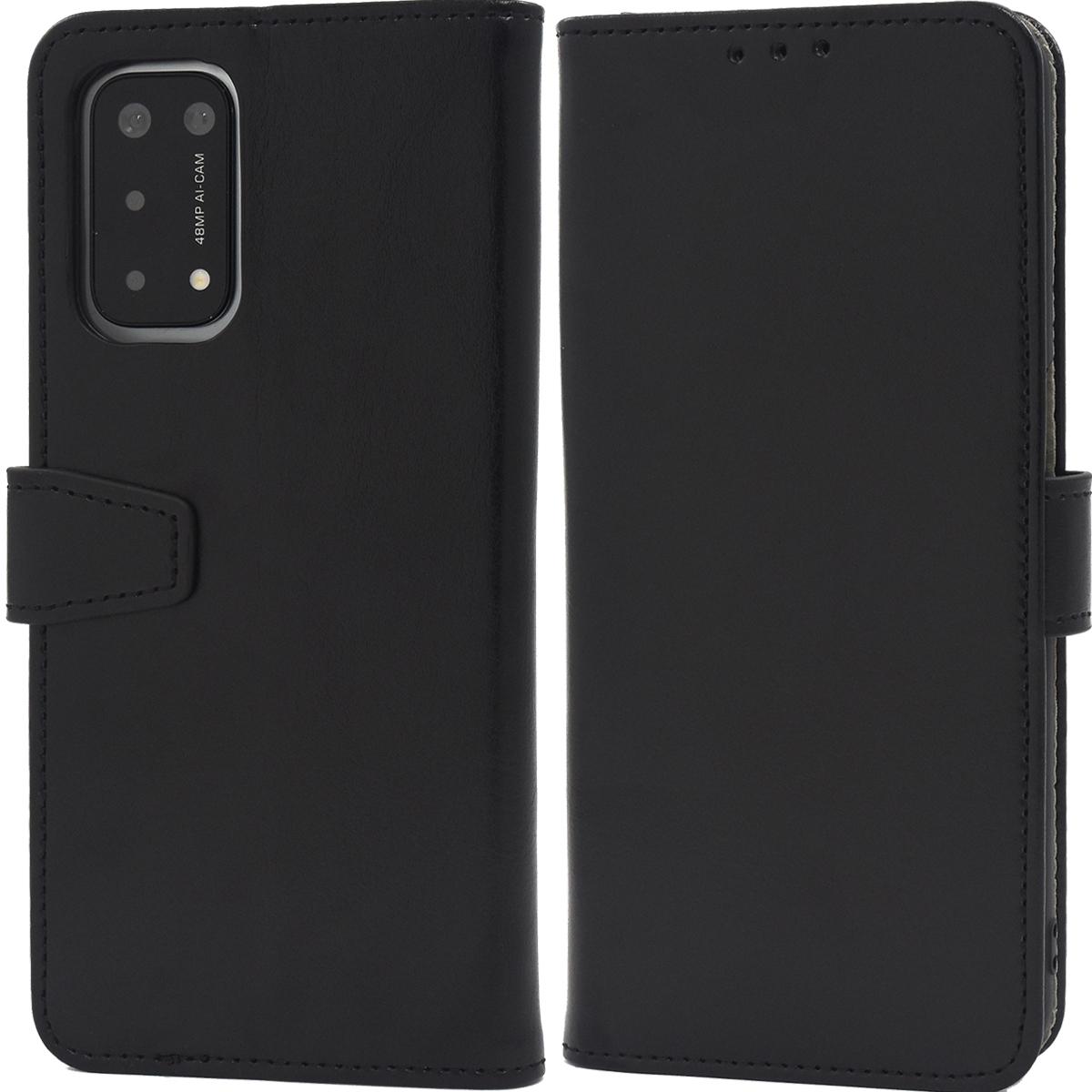 黒■OPPO A54 5G (OPG02) 専用 手帳型 ケース■スマホ 保護 カバー シンプル 無地 カードポケット au UQモバイル SIMフリー オッポA54 5G_画像1
