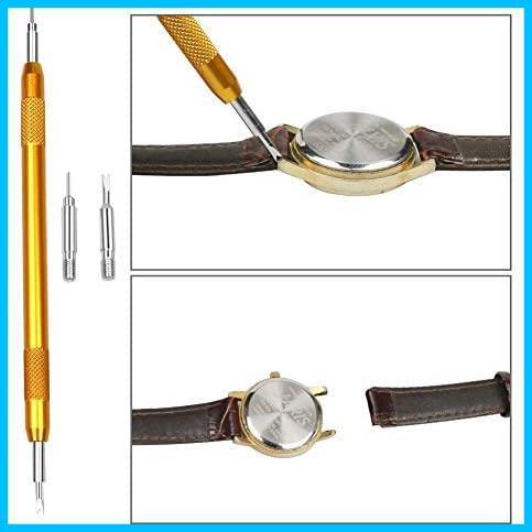 時計工具 時計修理 電池交換 腕時計ベルト調整 バンド調整 時計道具セット 時計用工具 収納便利 腕時計修理工具キット_画像6
