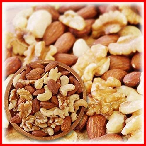 ミックスナッツ 3種類 1kg 徳用 生くるみ 40% アーモンド 40% カシューナッツ 20% 素焼き オイル不使用 無塩 無添加_画像1