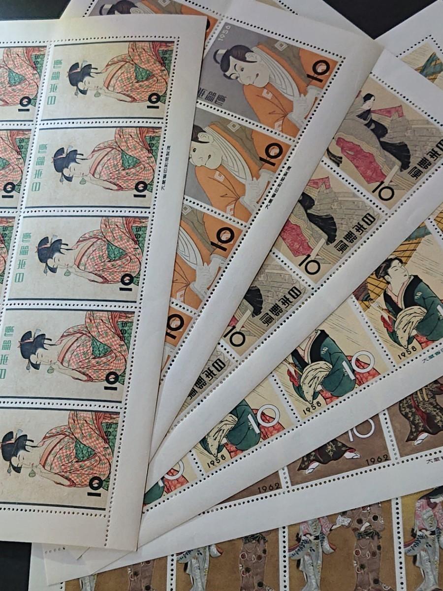切手趣味週間 シート 8種