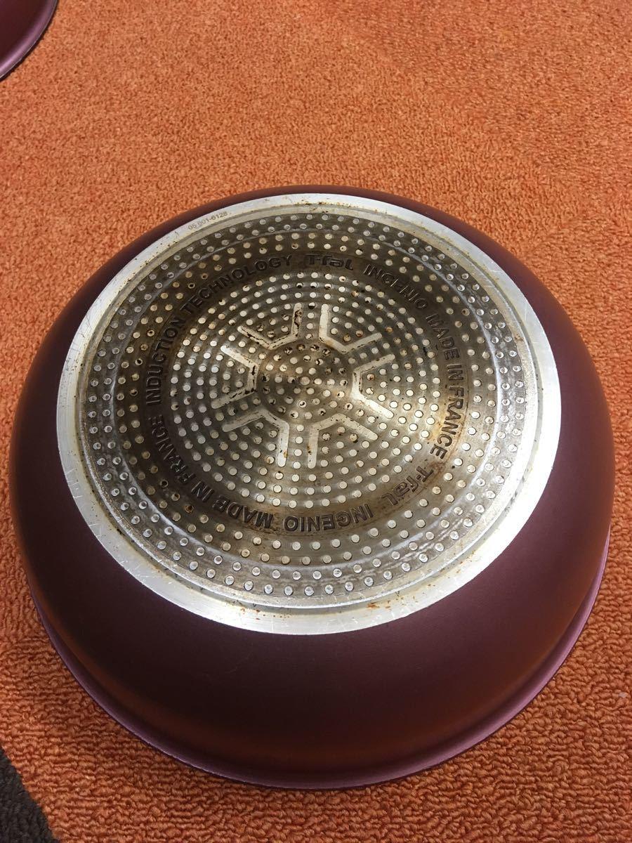 値下げ☆【IH対応】ティファール フライパン 鍋 10点セット ふた&取っ手付き