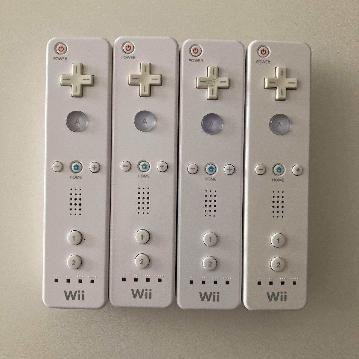 Wiiリモコン ホワイト 4個セット 任天堂Wii