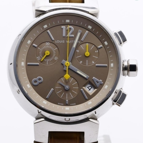 LOUIS VUITTON ルイヴィトン Q1322 タンブール クロノグラフ 腕時計 レディース 正規品 稼働品_画像1