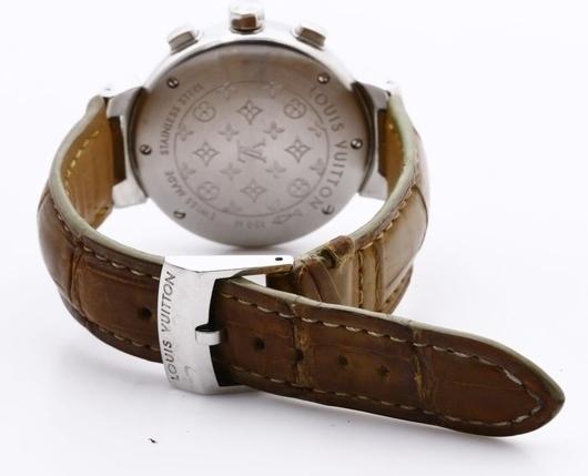 LOUIS VUITTON ルイヴィトン Q1322 タンブール クロノグラフ 腕時計 レディース 正規品 稼働品_画像6