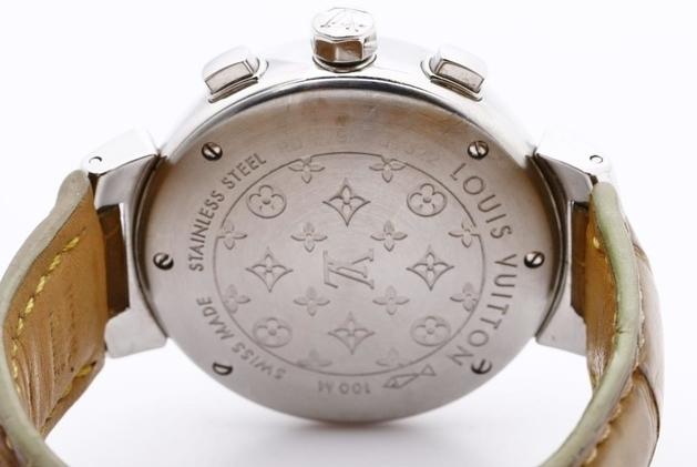 LOUIS VUITTON ルイヴィトン Q1322 タンブール クロノグラフ 腕時計 レディース 正規品 稼働品_画像5