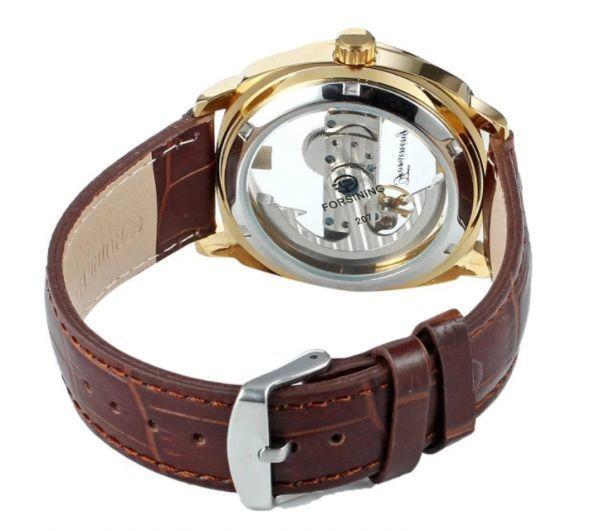 メンズ高級腕時計 43mm 機械式自動巻 スケルトンデザイン トゥールビヨン 本革ベルト 紳士ウォッチ|a_画像5