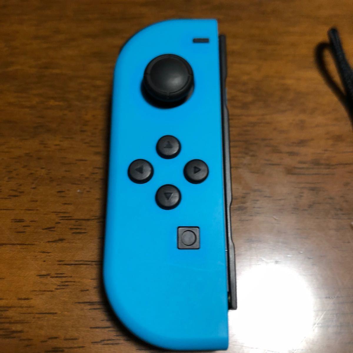 中古美品 ニンテンドースイッチ ジョイコンL Nintendo Switch ネオンブルー Joy-Con 左