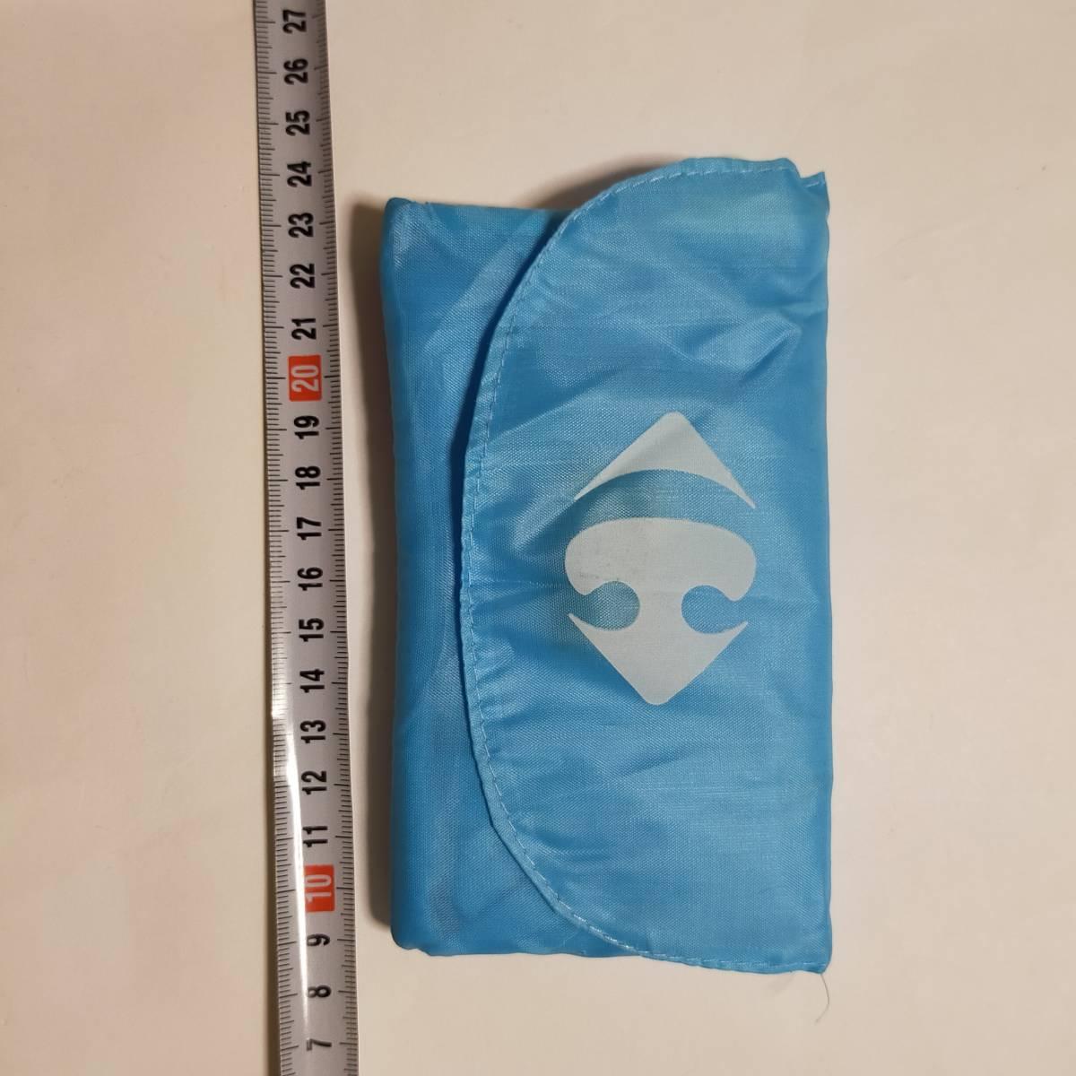 エコバッグ トートバッグ 鞄 バッグ 水色 フランス カルフール 折り畳みエコバッグ 海外土産 エコバ かばん バッグ カバン