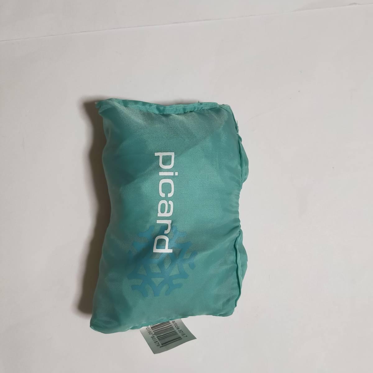 エコバッグ トートバッグ 鞄 バッグ ピカール picard 水色 フランス  折り畳みエコバッグ 海外土産 エコバ かばん バッグ カバン