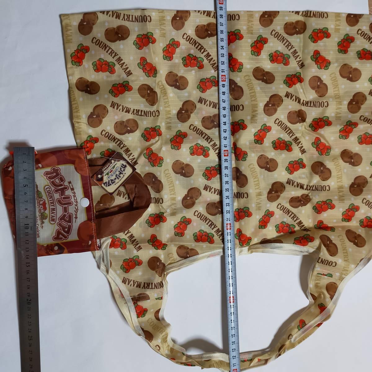 エコバッグ クッキー柄 カントリーマアム お菓子の柄 鞄 エコバッグ トートバッグ 鞄 バッグ エコバ かばん バッグ カバン