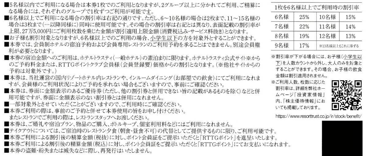 リゾートトラスト株主優待30%割引券★送料込み_画像2