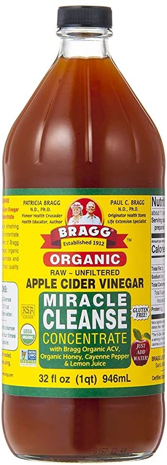 Bragg オーガニック アップルサイダービネガー ミラクルクレンズ りんご酢飲料 946ml 日本正規品_画像1