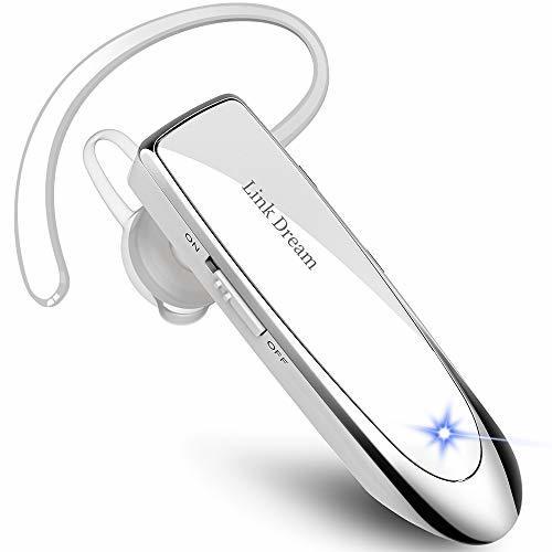 Link Dream 白 Bluetooth ワイヤレス ヘッドセット V4.1 片耳 マイク内蔵 ハンズフリー通話_画像1