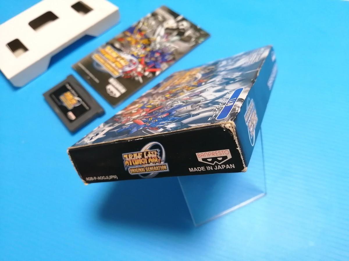 任天堂 GBA ゲームボーイアドバンスソフト スーパーロボット大戦 オリジナル ジェネレーション