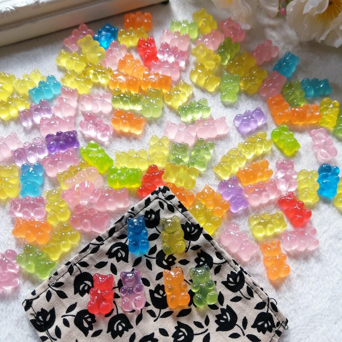 デコパーツ プラパーツ ハンドメイド 手作り 花台 材料 大量 パーツ 熊FB5