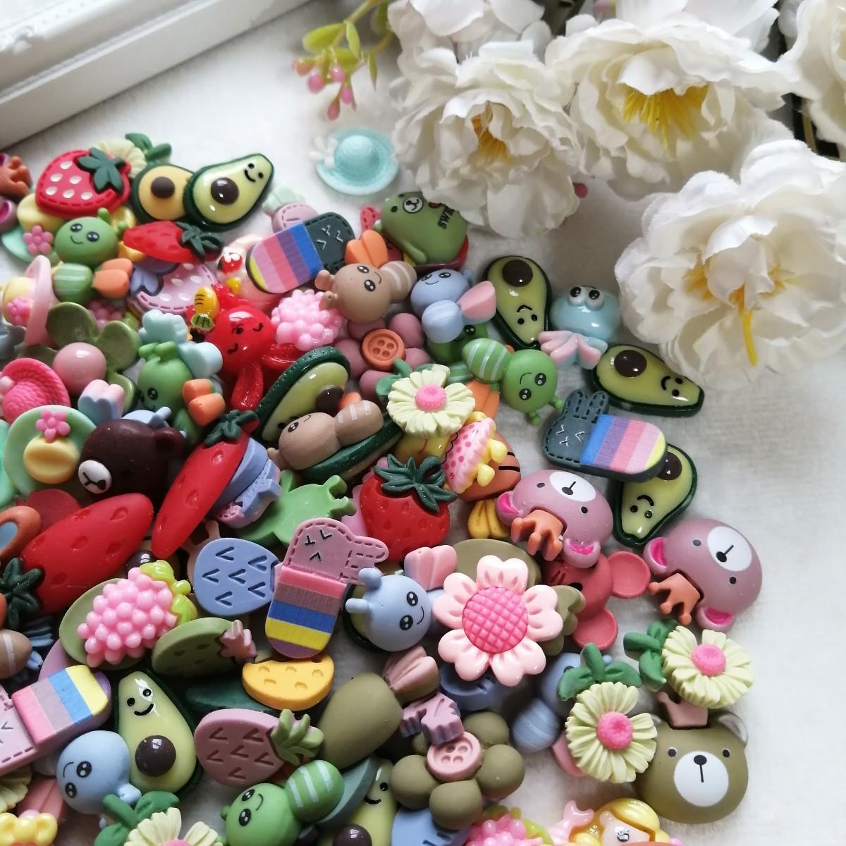 デコパーツ プラパーツ ハンドメイド  材料 手作り パーツ アボカド 果物 2
