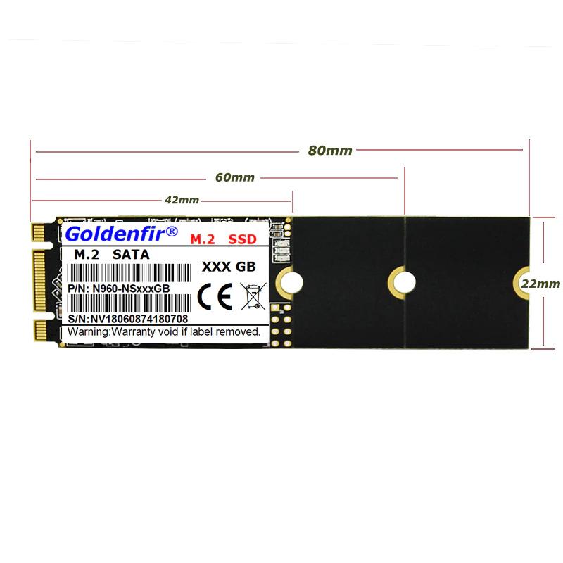 SSD Goldenfir M.2▲512GB 2280 新品未開封 高速 SATA3 TLC 3D NAND 内蔵 デスクトップ ノートPC_画像2